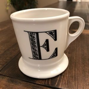 Anthropologie monogram mug E